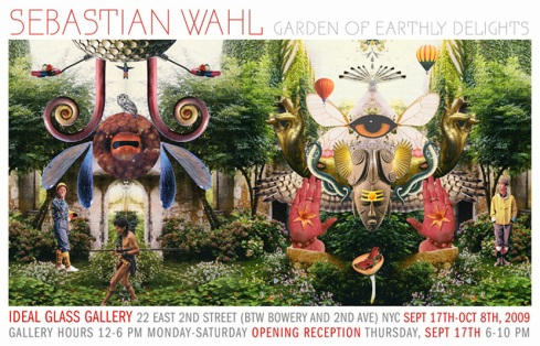 "Sebastian Wahl's ""The Garden of Earthly Delights"" Show at Ideal Glass"